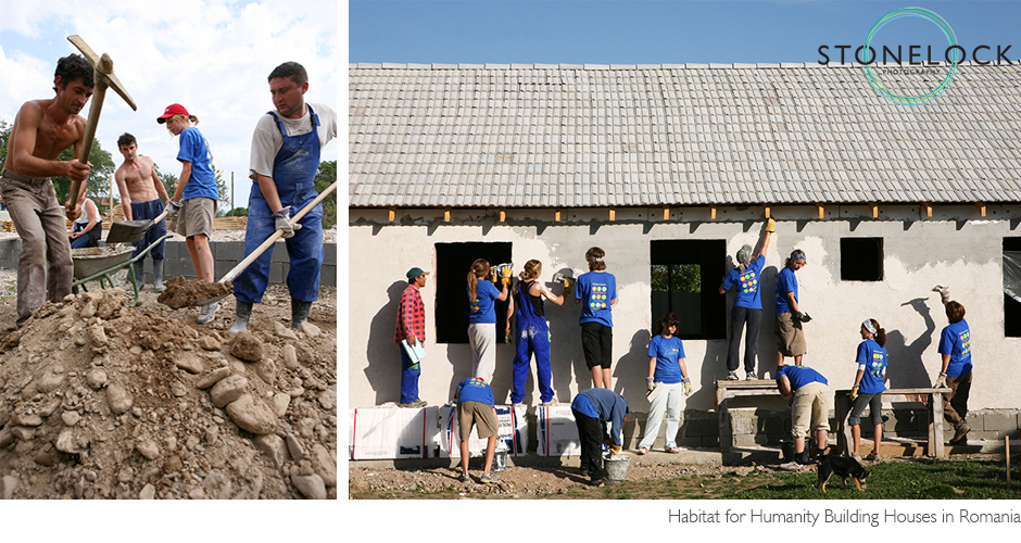 Habitat for Humanity building activities in Romania