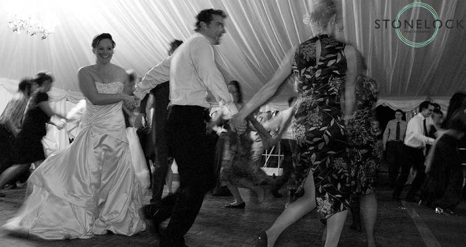 Dancing at a wedding reception