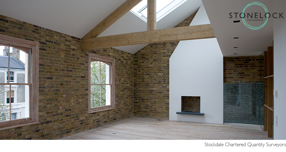 Interior Photography, architecture, modern, contemporary building, light and bright with exposed brick walls