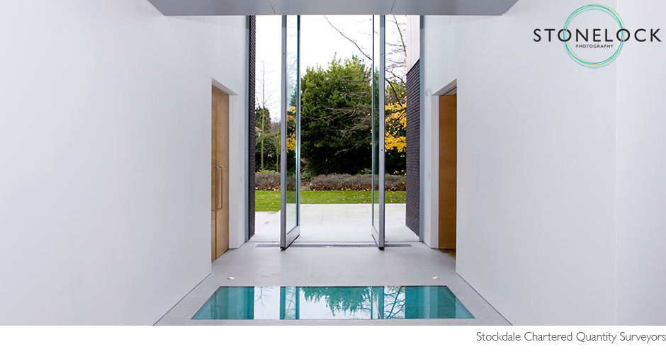 Interior Photography, architecture, modern, contemporary building, light and bright with large double doors