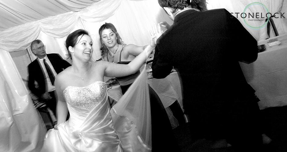 The bride dances at her wedding reception