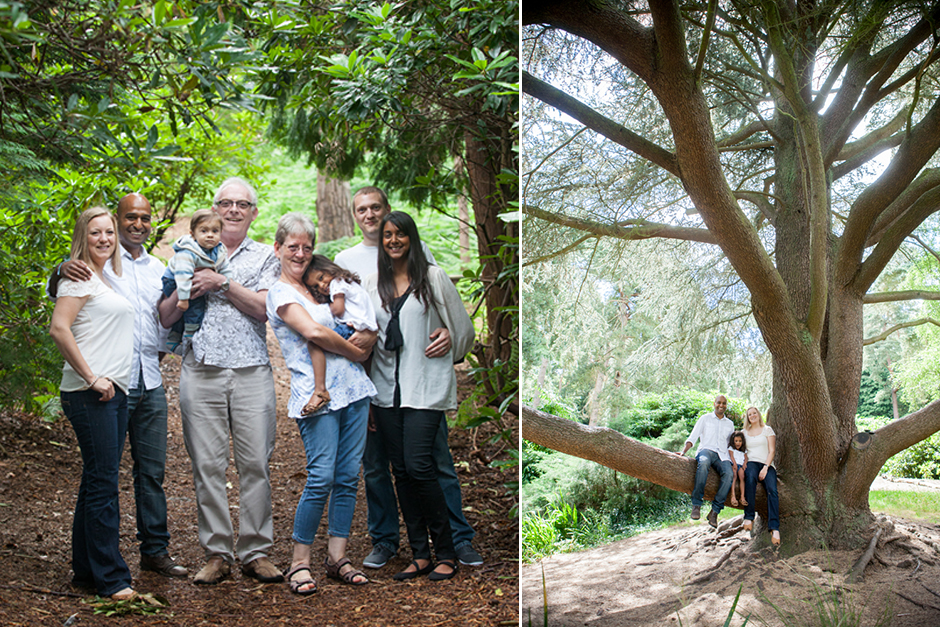 Family portrait photography at Coombe Wood in Croydon