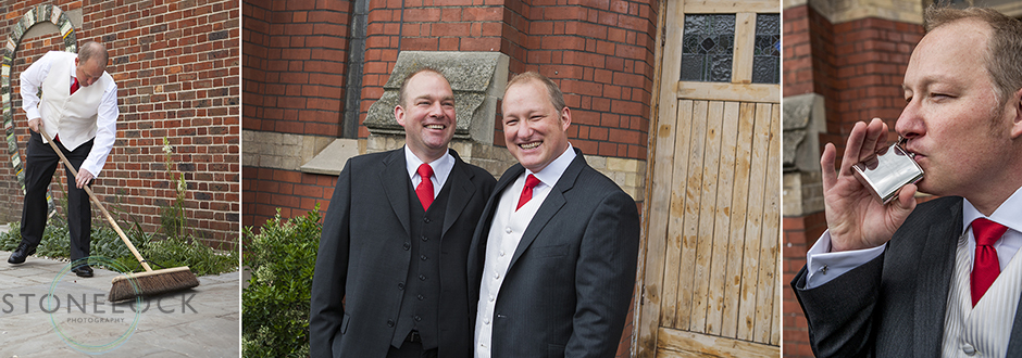 The groom and the best man before the wedding ceremony