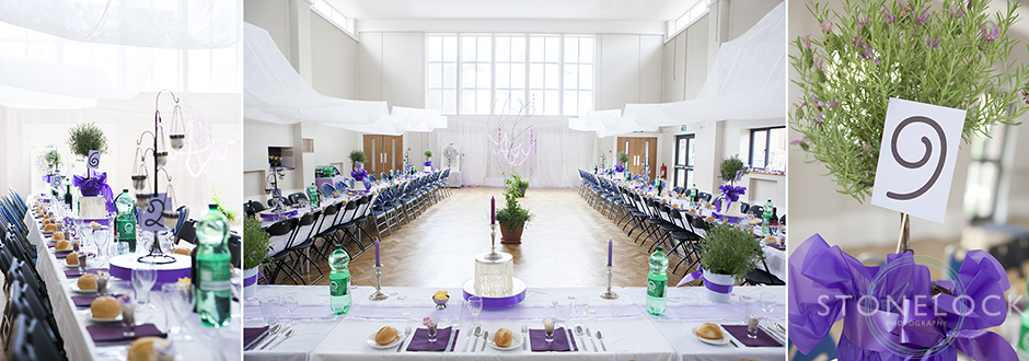 The room ready for the wedding breakfast, Mitcham Lane Baptist Church