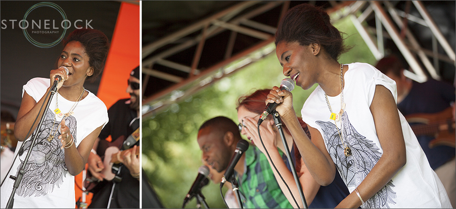 A band performs on the main stage at the South Norwood Community Festival 2014