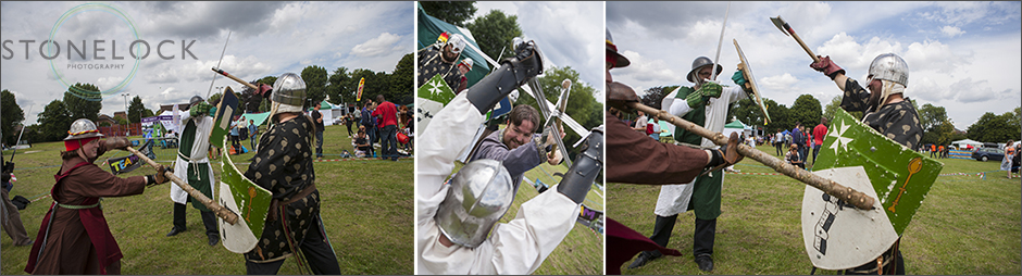 Medievil swoard fighters perform at the South Norwood Community Festival 2014