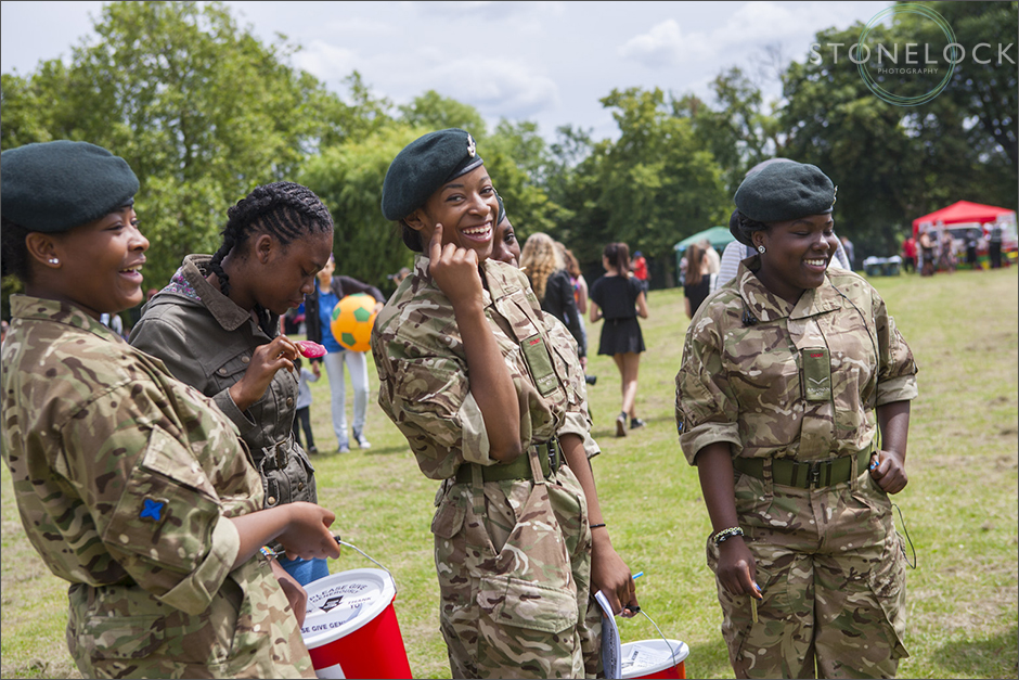 Young Army Cadetss are at the South Norwood Community Festival 2014