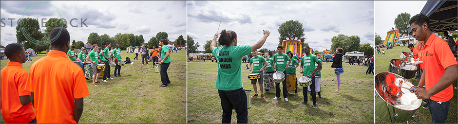 Samba Band at South Norwood Community Festival 2014 held on the Recreation Ground