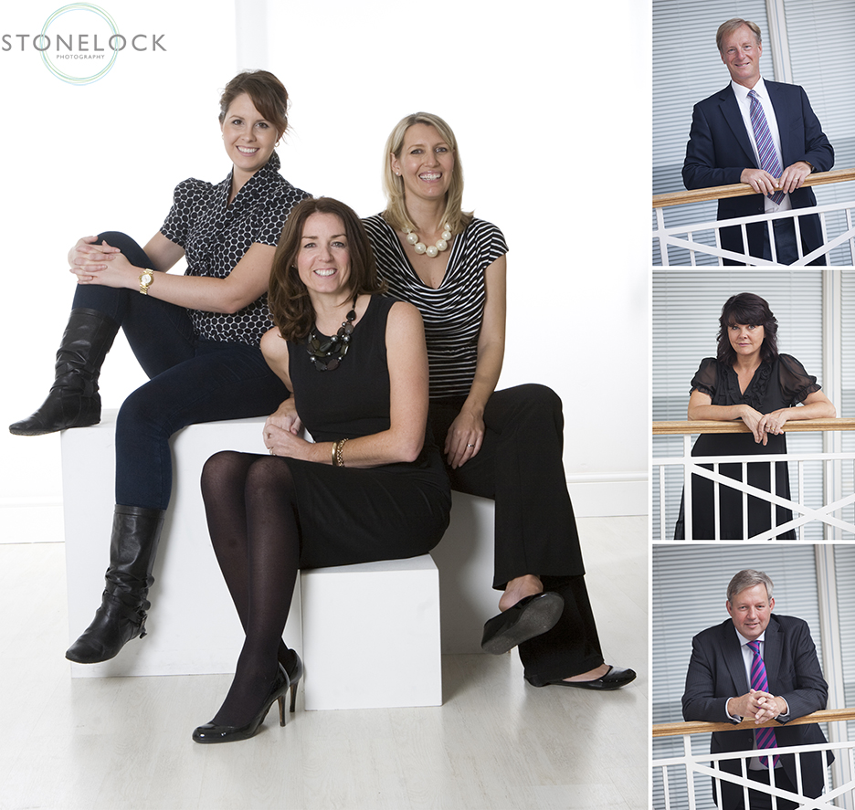 A Professional business photo shoot with a group of people