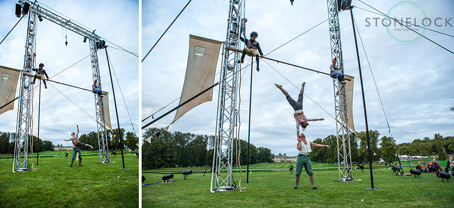 Square Peg Circus perform at Greenbelt Arts Festival at Boughton House.