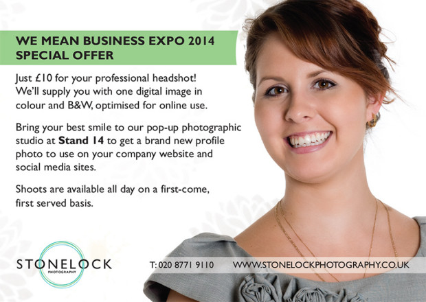 We Mean Business Expo pop up studio with Stonelock Photography