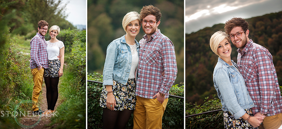 Engagement photos of a young couple in Bristol shot on the Downs near the Clifton Suspension Bridge