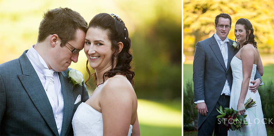 Autumn wedding photos of a Bride and Groom at Bourne Hall in Ewell, Surrey