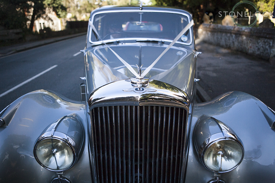 A Bentley wedding car