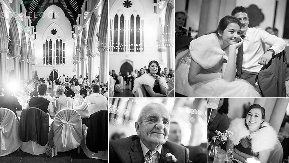 A wedding reception at St Mary Magdelene Church in Bristol