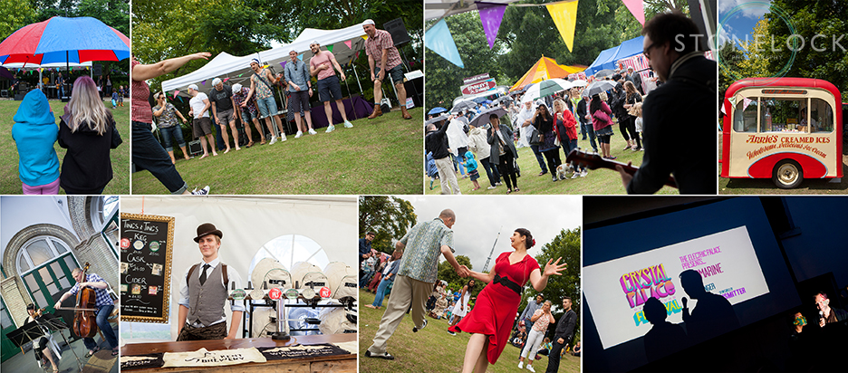 A photo montage of Crystal Palace Overground Festival 2014