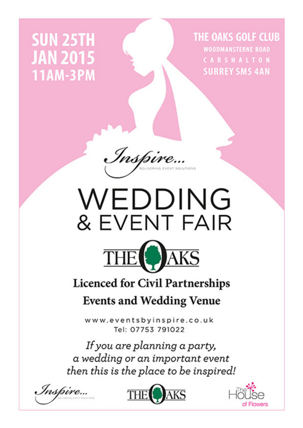 Oaks Golf Club wedding fair poster