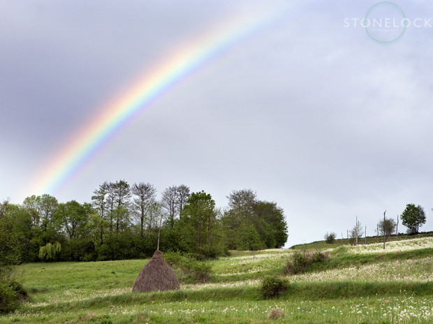 A rainbow after the storm, Tiblesului Mountains, Maramures, Romania, 07.05.07