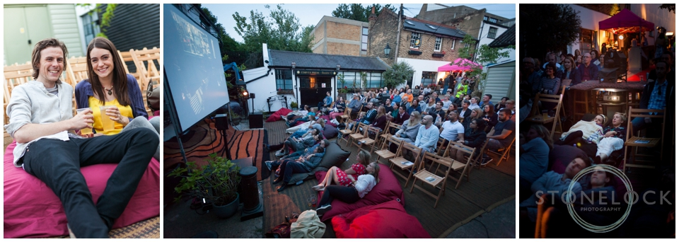 The Electric Palace Open Air Cinema in Coopers Yard as part of the Crystal Palace Overground Festival