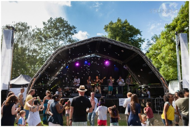 Mainstage at the Crystal Palace Overground Festival in Westow Park