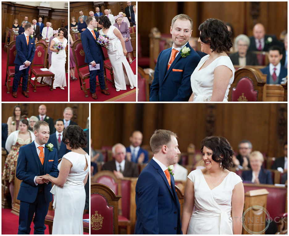 Wedding ceremony at Islington Town Hall