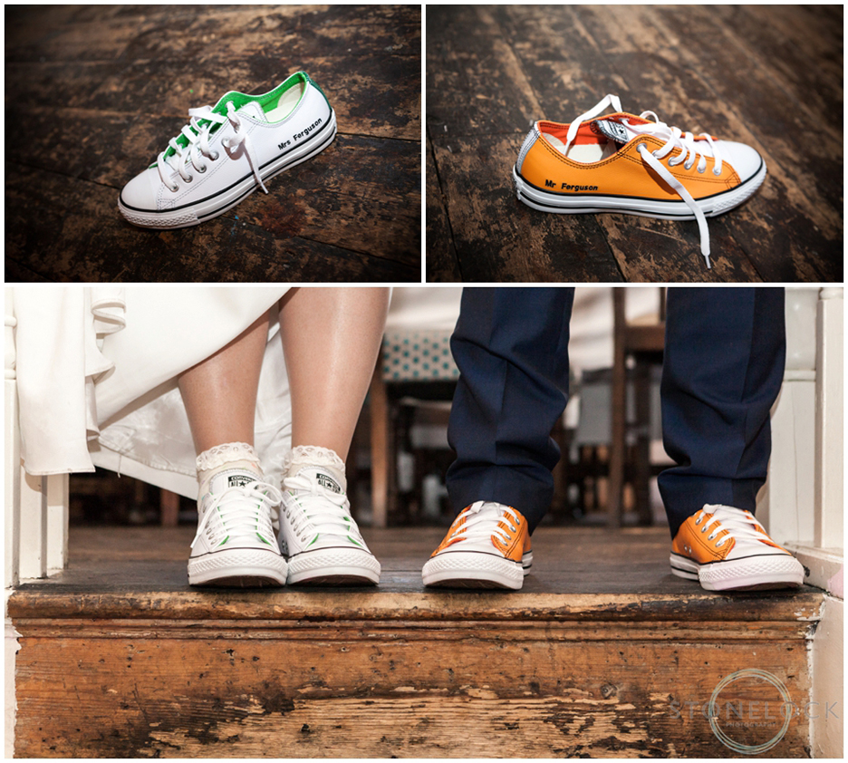Personalised wedding converse trainers for dancing!