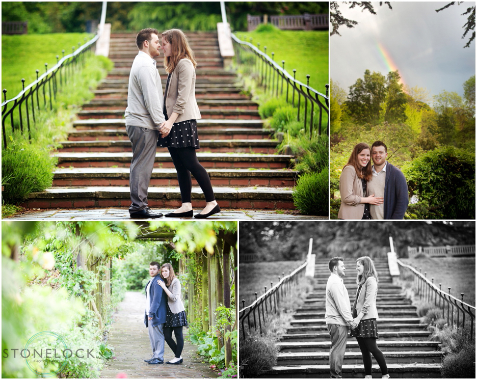 Engagement photo shoot under a rainbow in The Rookery on Streatham Common in London