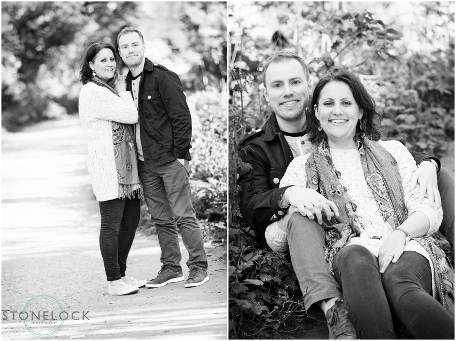 Engagement photo shoot along the Parkland Walk in North London