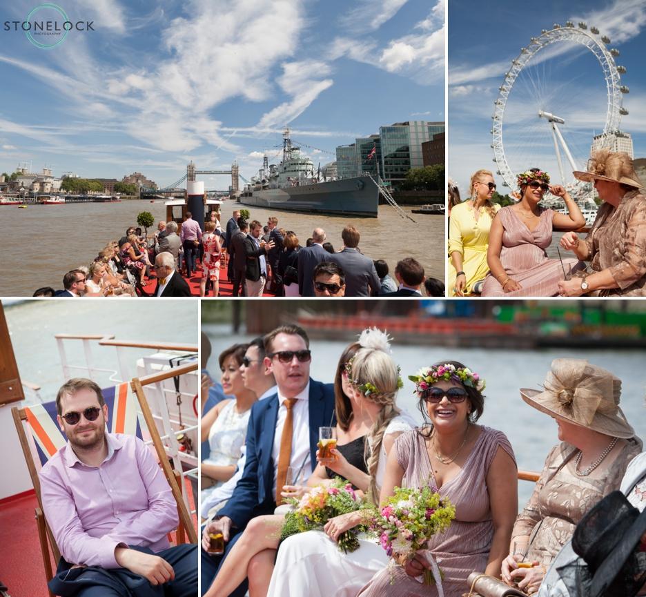 A wedding boat cruise