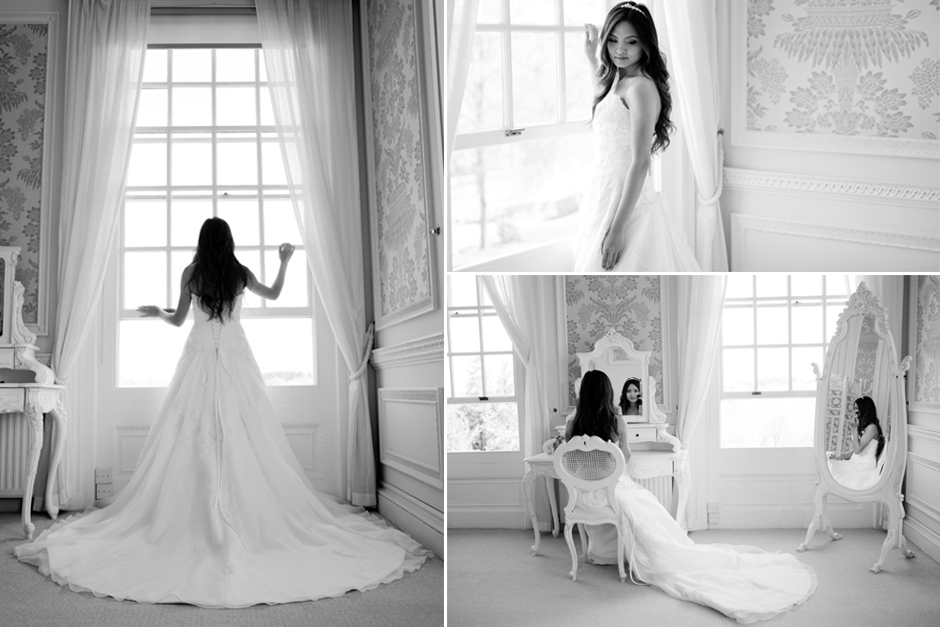 A bride gets ready for her wedding