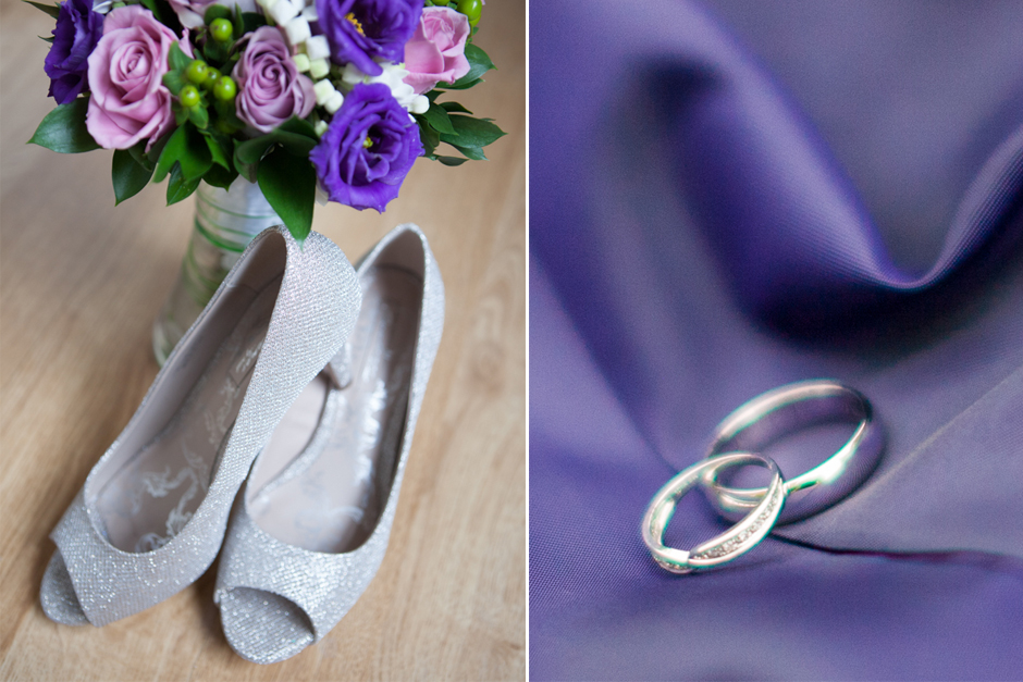 Sparkly wedding shoes!
