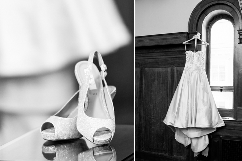 The wedding dress & shoes