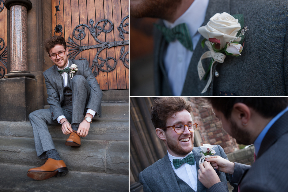 The Groom gets ready for his wedding
