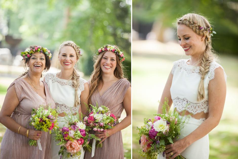 Bride &her bridesmaids