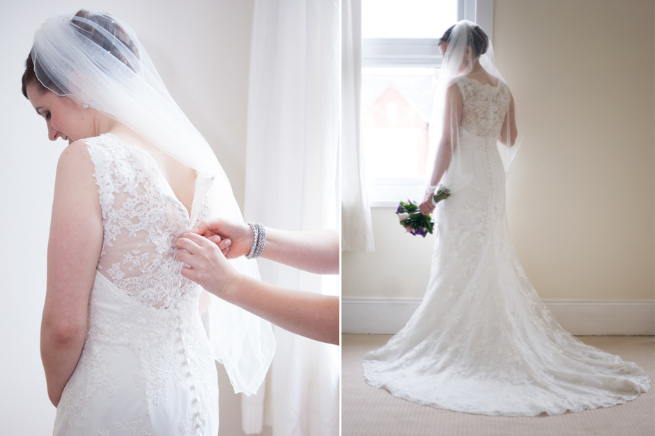 Beautiful bridal portraits, the Bride in her dress