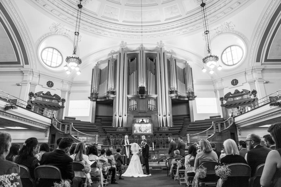 Methodist Central Hall, Westminster, wedding