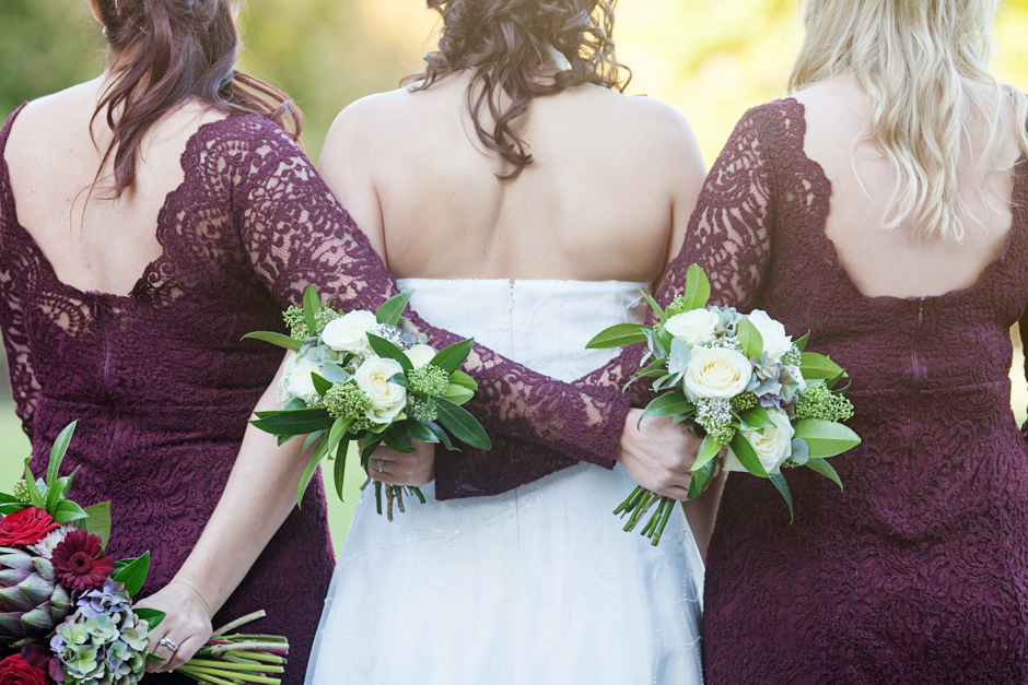 Best friends - the Bride with her bridesmaids