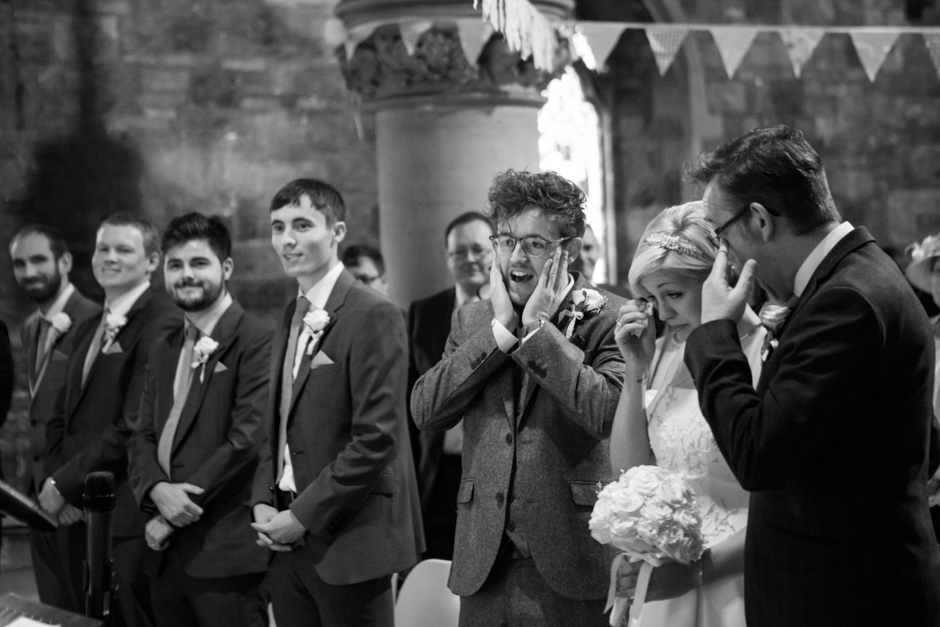 The emotion of a wedding ceremony, tears and crying!