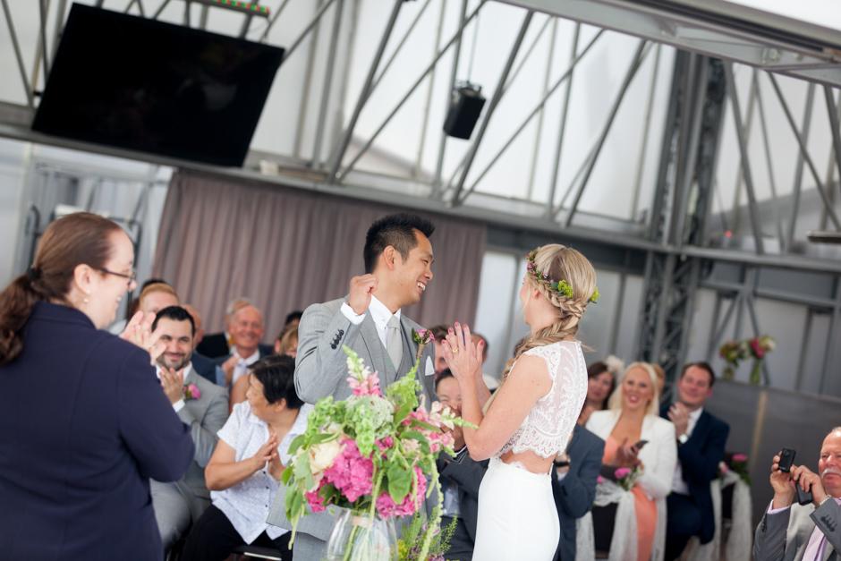 The Bride & Groom celebrate being married!