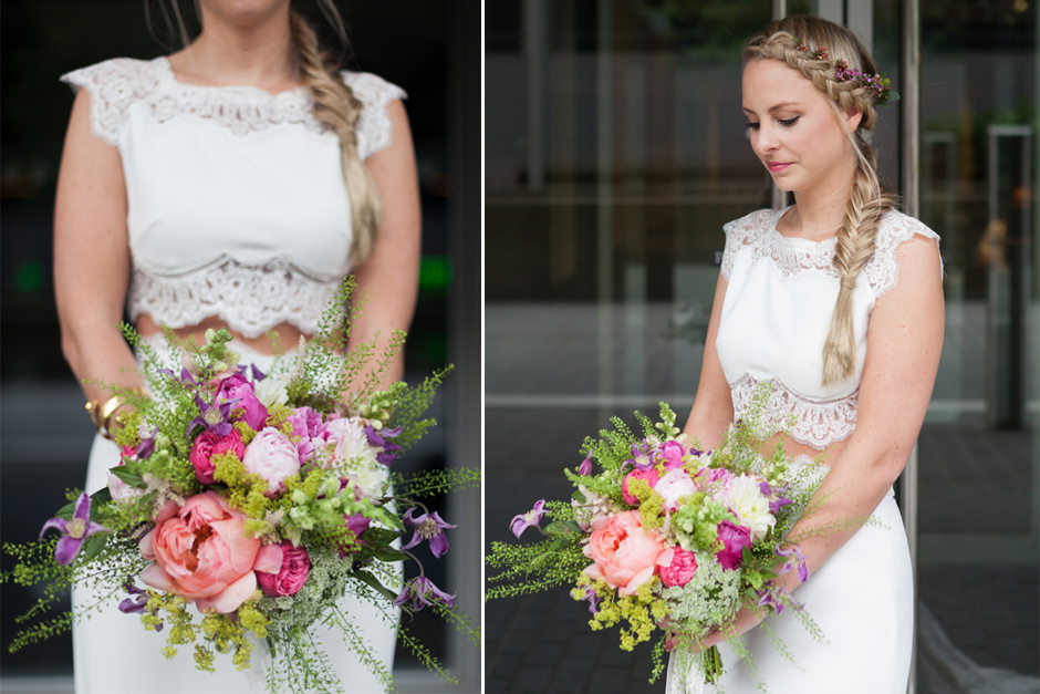 Beautiful bridal portraits at the National Theatre in London