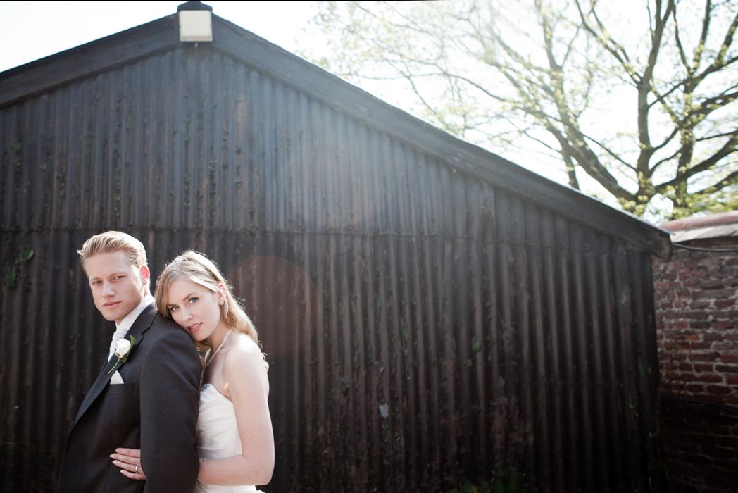 The Bride & Groom pose
