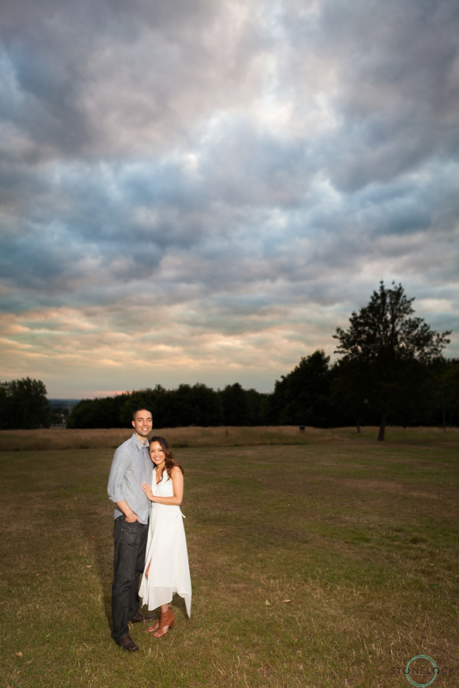 Golden Hour engagement photography on Streatham Common, South London