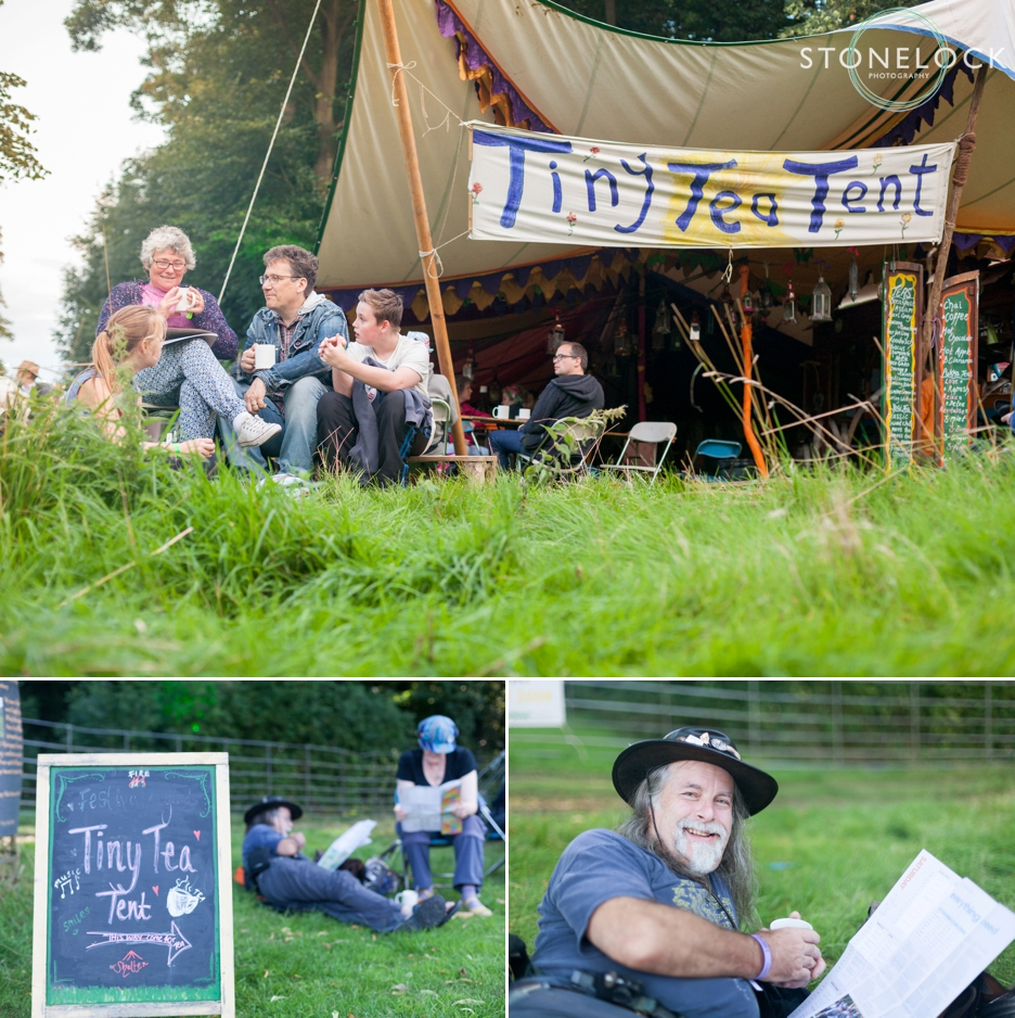 Tiny Tea Tent at Greenbelt Festival 2015 at Boughton House in Northamptonshire