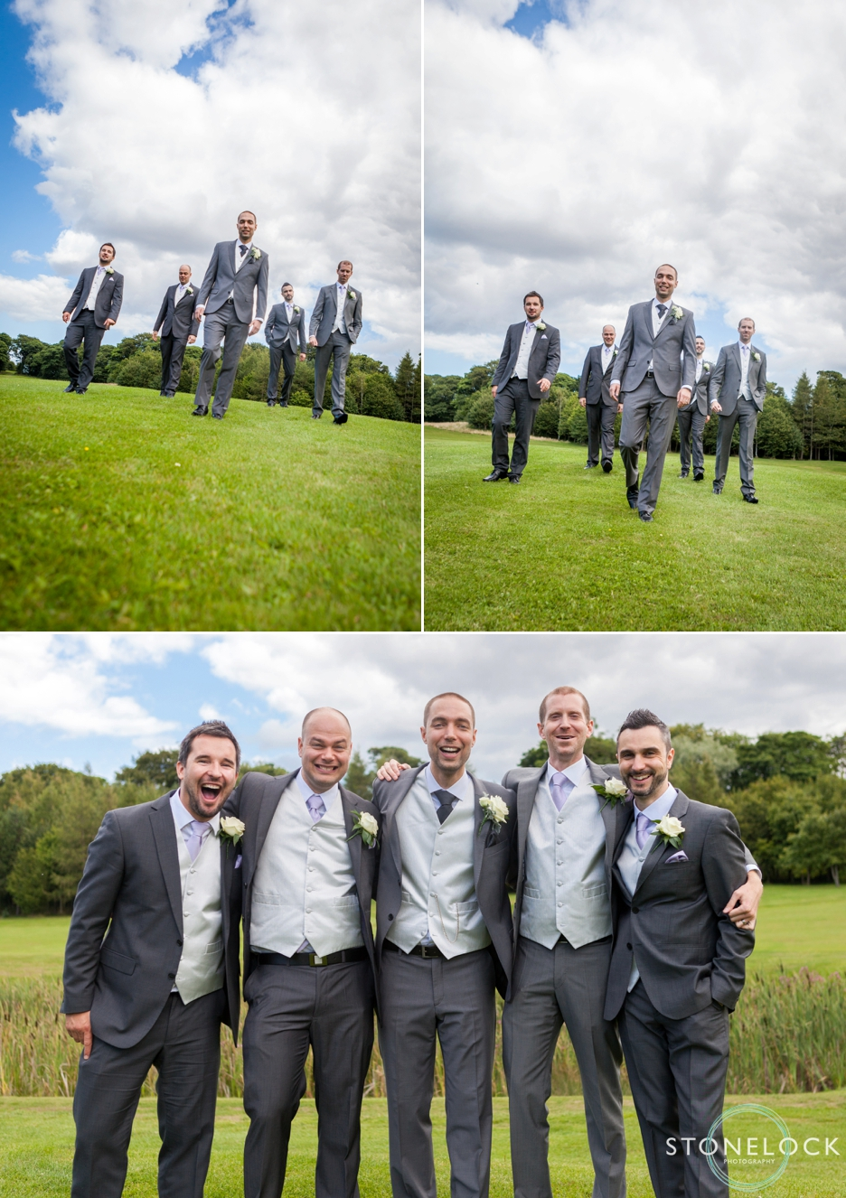 The groom and his groomsmen before the wedding