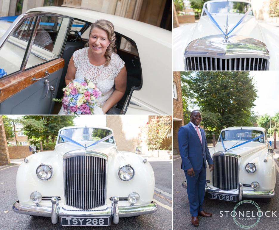 The wedding car, a Bentley