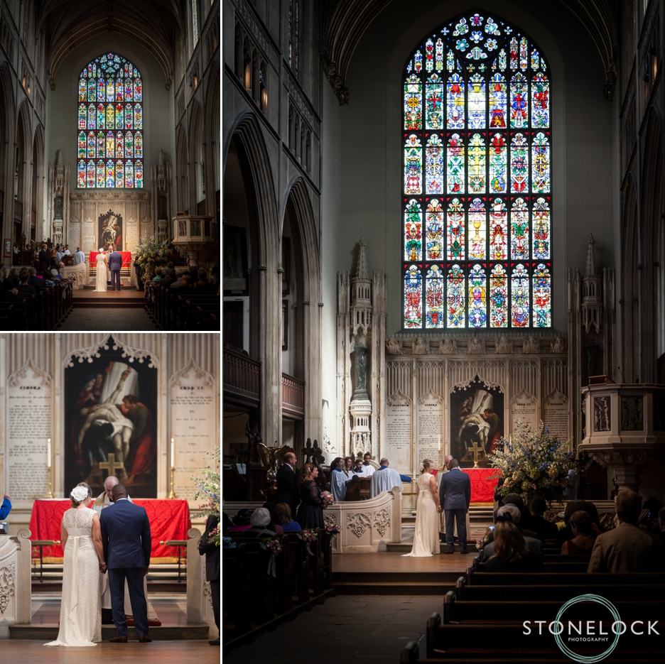 The wedding ceremony at St Luke's Church on Sydney Street, London