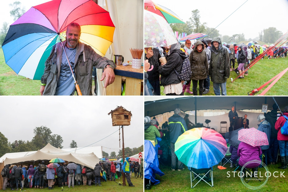 A Rainy Day at Greenbelt Festival 2015 at Boughton House in Northamptonshire