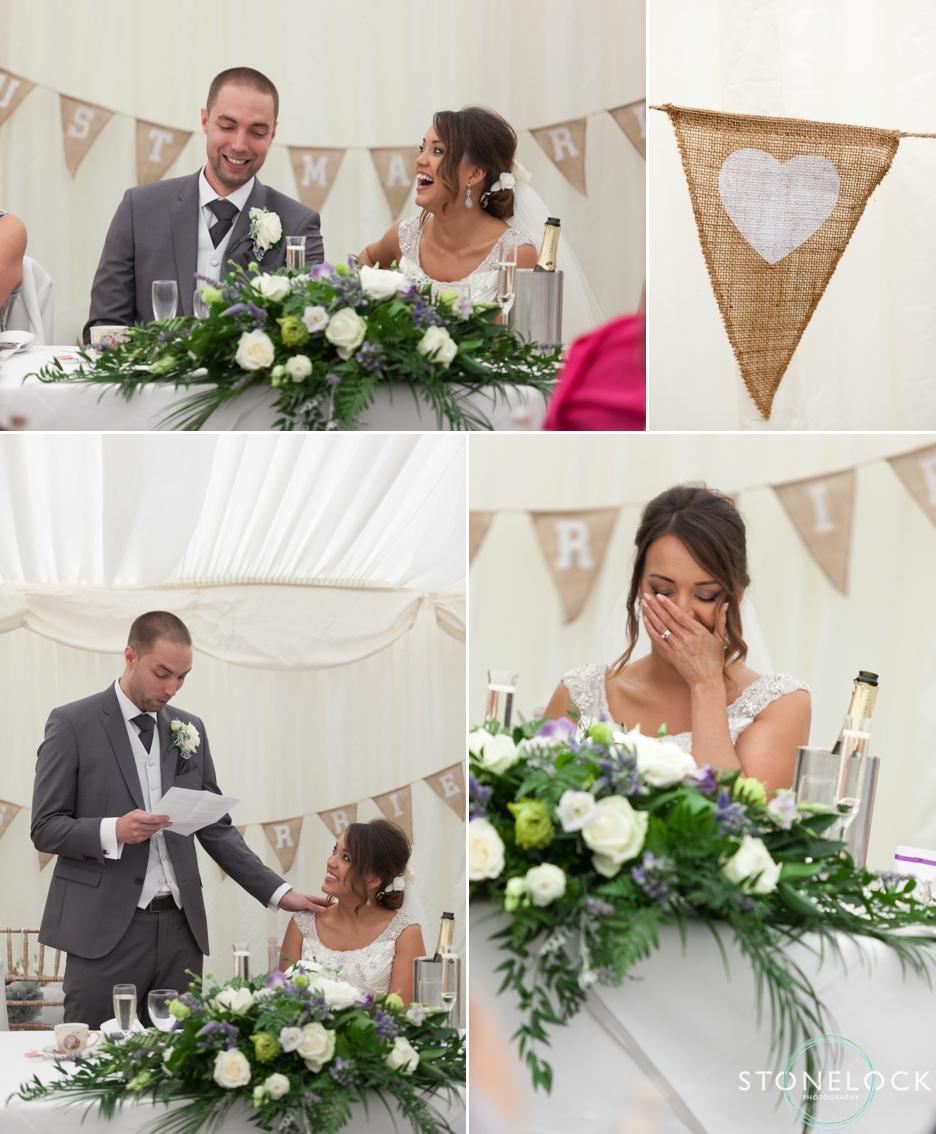 Wedding speeches at Ramside Hall in Durham
