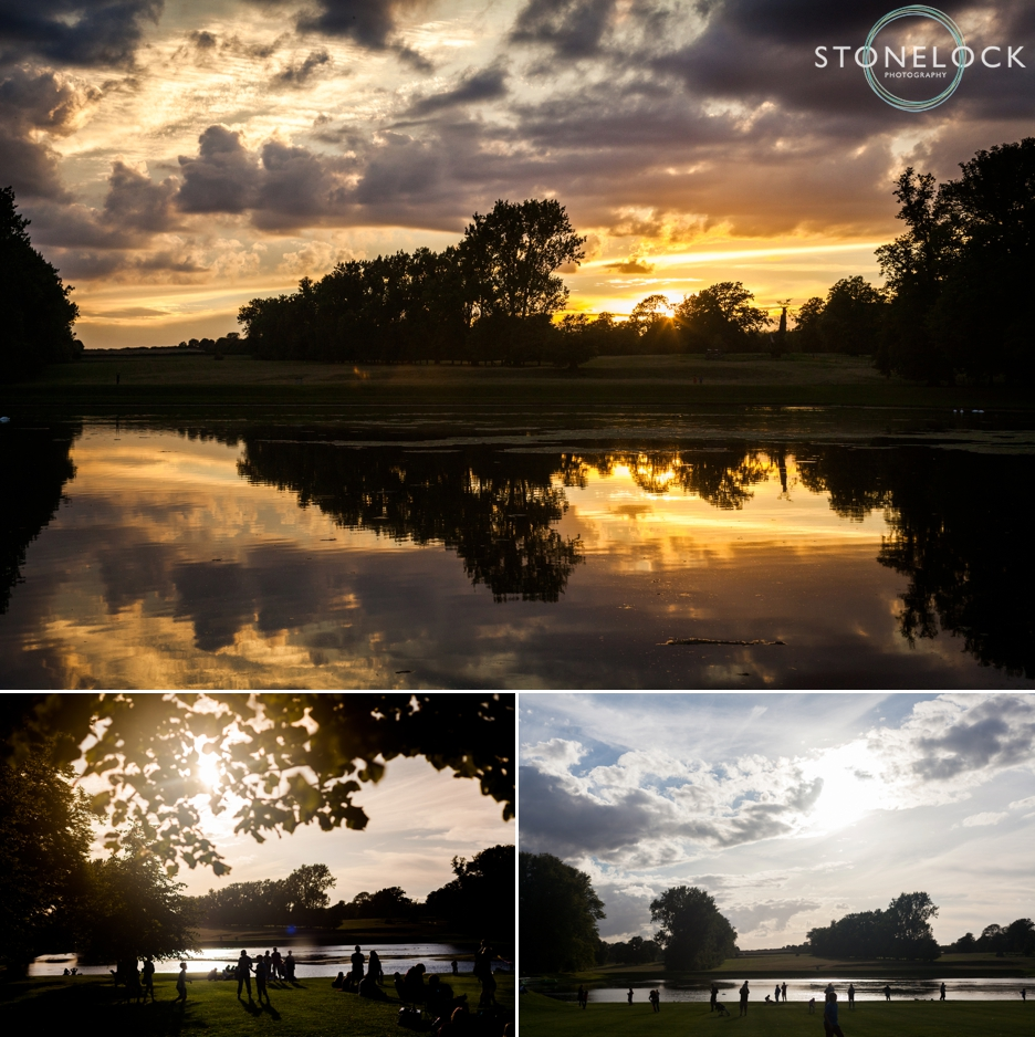 The sun sets on Greenbelt Festival 2015 at Boughton House in Northamptonshire