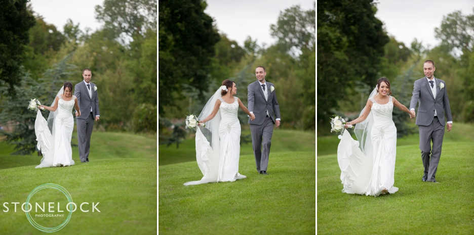 The bride and groom at Ramside Hall in Durham